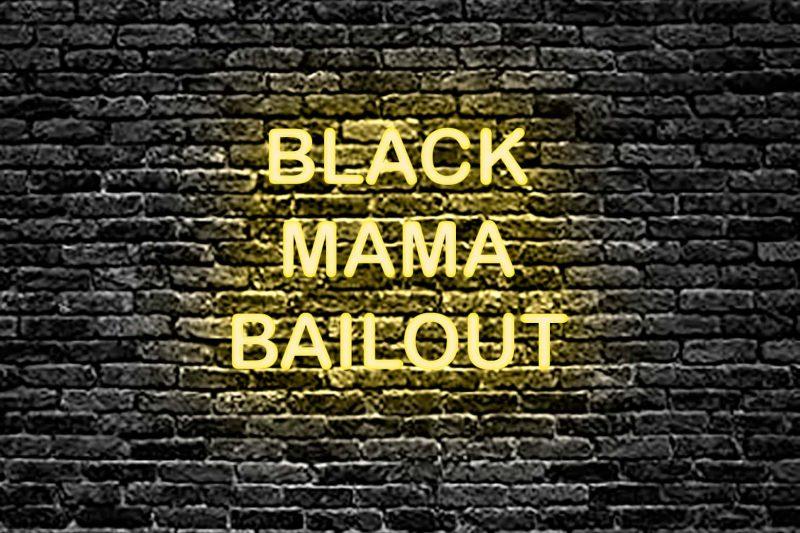 BlackMamaonBrick
